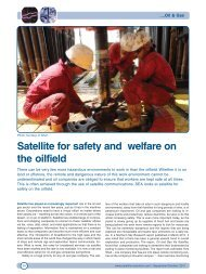 Satellite for safety and welfare on the oilfield - Satellite Evolution ...