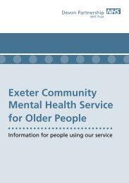 Exeter Community Mental Health Service for Older People - Devon ...