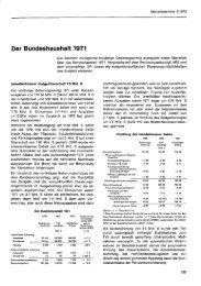 Der Bundeshaushalt 1971 - Wifo