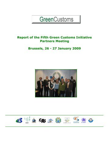 Meeting report - Green Customs Initiative
