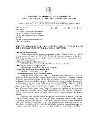 (134,48 ha) naudojimo poveikio - Vilniaus regiono aplinkos ...