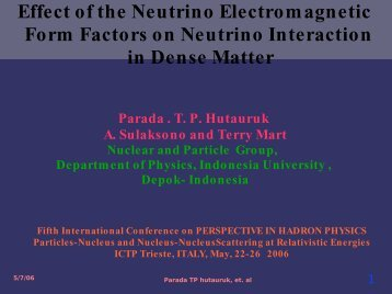 Effect of the Neutrino Electromagnetic Form Factors on ... - INFN