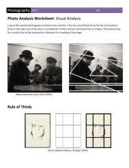 Photography Name Photo Analysis Worksheet: Visual Analysis Rule ...
