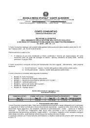 CONTO CONSUNTIVO - istituto comprensivo statale varese 6 ''dante ...