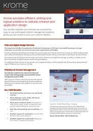 Web & Digital Services - Krome Design