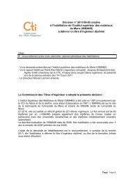 ISMANS - Commission des Titres d'Ingénieur