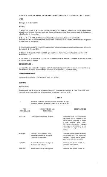 SUSTITUYE LISTA DE BIENES DE CAPITAL ... - Pollmann
