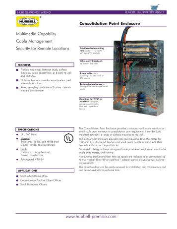 Consolidation Point Enclosure Cpeh Xx Ics