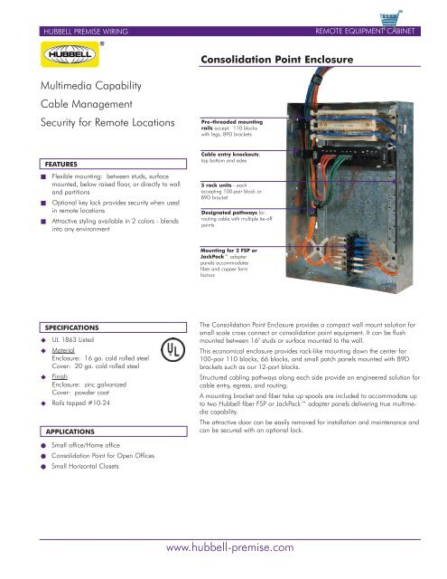 Excellent Consolidation Point Block Hubbell Premise Wiring Wiring Digital Resources Funapmognl