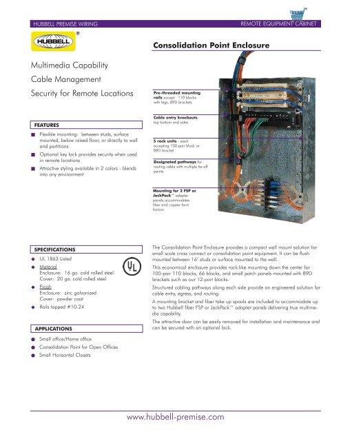Astonishing Consolidation Point Block Hubbell Premise Wiring Wiring Database Gramgelartorg