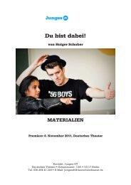 Materialmappe DU BIST DABEI - Deutsches Theater