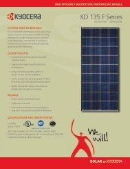 KD 135 F Series - KYOCERA Solar