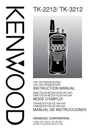 TK-2212/ TK-3212 - Kenwood Corporation