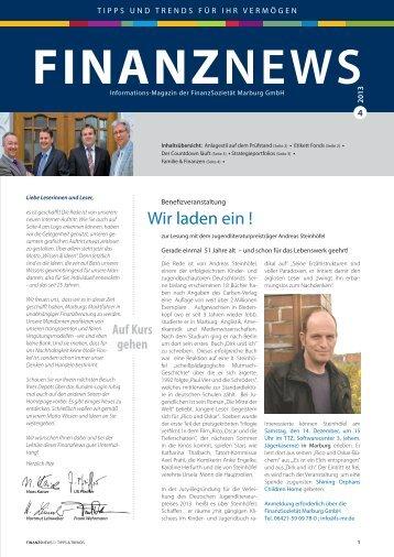 aktuellen Ausgabe (4-2013) - Finanzsozietät Marburg