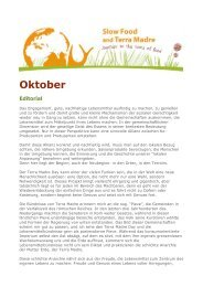 Oktober - Slow Food