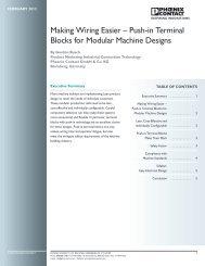 Making Wiring Easier – Push-in Terminal Blocks ... - Phoenix Contact
