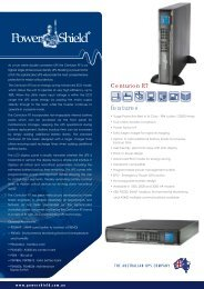 PowerShield Centurion RT UPS Brochure
