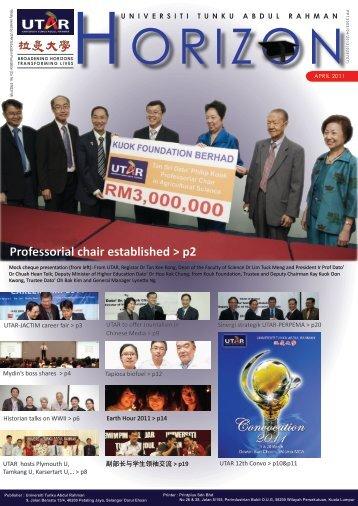 April Issue - UTAR News - Universiti Tunku Abdul Rahman