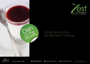 Vanilla Panna Cotta with Red Berry Compote - Zest Caterers