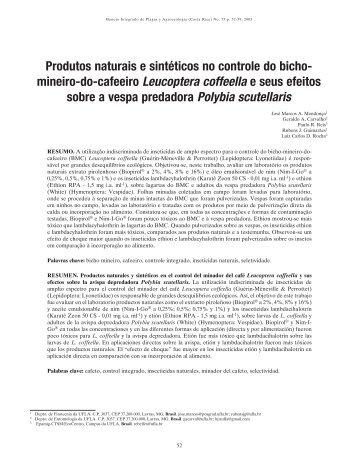 Produtos naturais e sintéticos no controle do bicho- mineiro-do ...