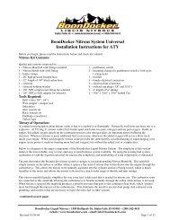 ATV Universal Instructions 3000