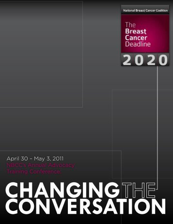 2011 NBCC Conference Program - National Breast Cancer Coalition