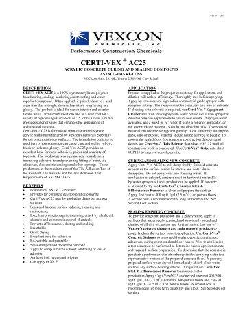 CERTI-VEX AC25 - Vexcon Chemicals