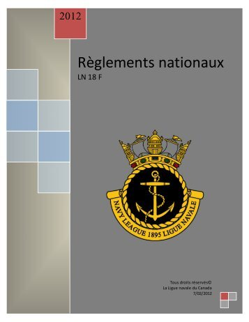 Règlements nationaux - The Navy League of Canada
