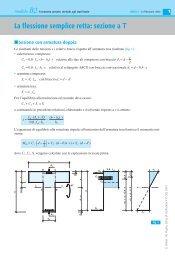 La flessione semplice retta: sezione a T con armatura doppia - Sei