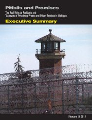 Pitfalls and Promises Executive Summary - Michigan Corrections ...