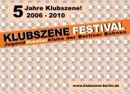 Organisationsteam Klubszene 2010 - Deutsches Theater