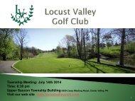 Locust Valley Golf Course-Public Comment 7-14