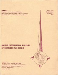 MIDDLE PRECAMBRIAN GEOLOGY OF NORTHERN WISCONSIN