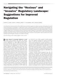 "Navigating the ""Noxious"" and ""Invasive"" Regulatory Landscape ..."
