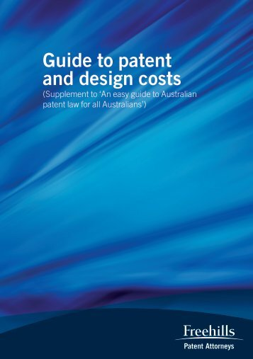 Guide to patent and design costs