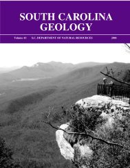 SOUTH CAROLINA GEOLOGY - Carolina Geological Society