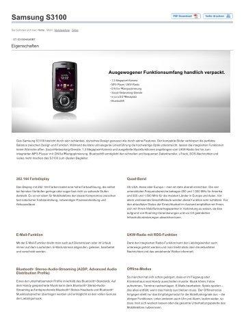 Samsung-S3100-Technische-Daten.pdf herunterladen - Fonmarkt.de
