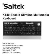K140 Backlit Slimline Multimedia Keyboard - Saitek