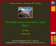 Technológia prípravy dokumentov v jazyku LATEX2ε - Hornad