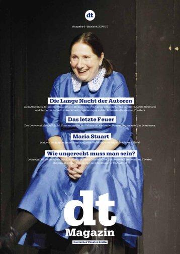 DT Magazin | Ausgabe 4 - Spielzeit 2009/10 - Deutsches Theater