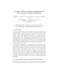Computer Vision and Pattern Recognition at the University of ... - DMI
