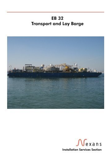 EB 32 Transport and Lay Barge - Nexans