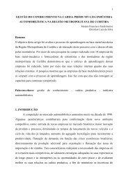 GESTO E COMPETITIVIDADE EMPRESARIAL: O CASO DAS ...