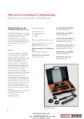 FAG tools for mechanical mounting and dismounting of rolling ... - Page 5