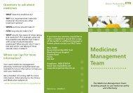 Medicines Management Team - Devon Partnership NHS Trust