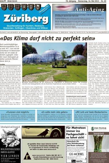 «Das Klima darf nicht zu perfekt sein» - Lokalinfo AG