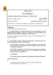 Perguntas Teste n.º 20 - Associação de Futebol de Vila Real