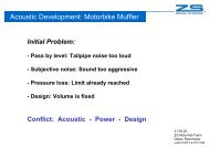Acoustic Development: Motorbike Muffler