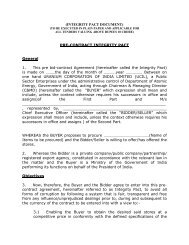 (INTEGRITY PACT DOCUMENT) PRE-CONTRACT ... - (UCIL).....