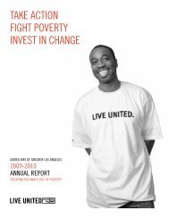 taKe aCtion fight poverty invest in Change - United Way of Greater ...